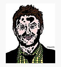 Chris Hardwick Colour/Color Nerdist Fanart Portrait JTownsend Photographic Print