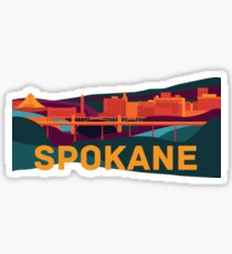 Abstract Spokane Cityscape Sticker