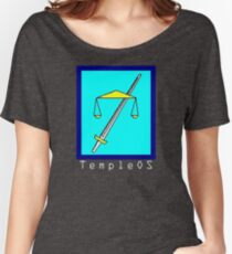 TempleOS Text Logo Women's Relaxed Fit T-Shirt