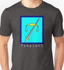 TempleOS Text Logo Slim Fit T-Shirt