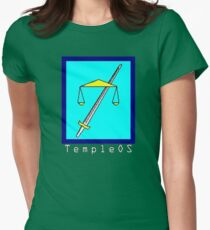 TempleOS Text Logo Womens Fitted T-Shirt