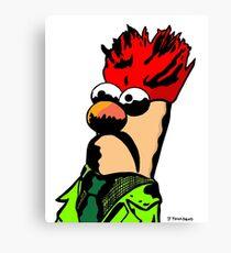 Color Beaker Muppets Fanart by JTownsend Canvas Print