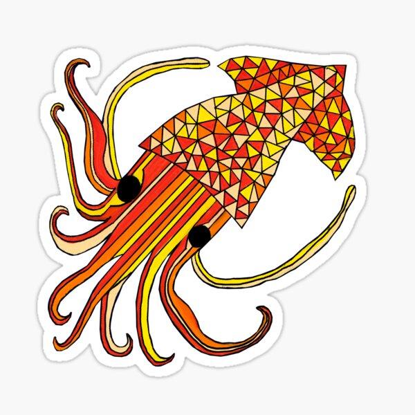 Squid of defiance Sticker