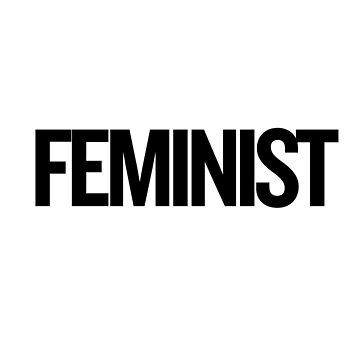 Feminist 2 (Black) T-Shirt iPhone Case by sergiovarela