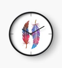 Feathers Two Ways Clock