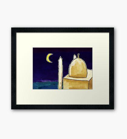 Mosque Night Framed Print