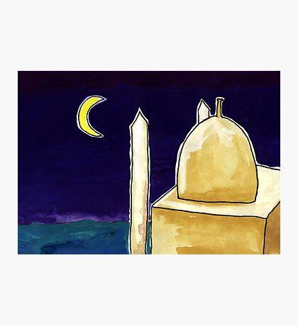 Mosque Night Photographic Print