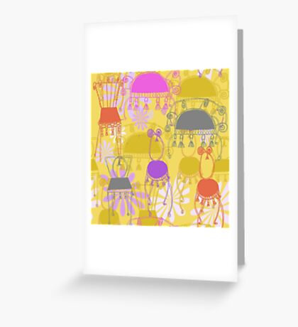 fancy chairs with spirals and tassels Greeting Card