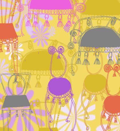 fancy chairs with spirals and tassels Sticker