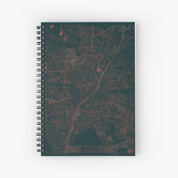 Munich Map Red Spiral Notebook