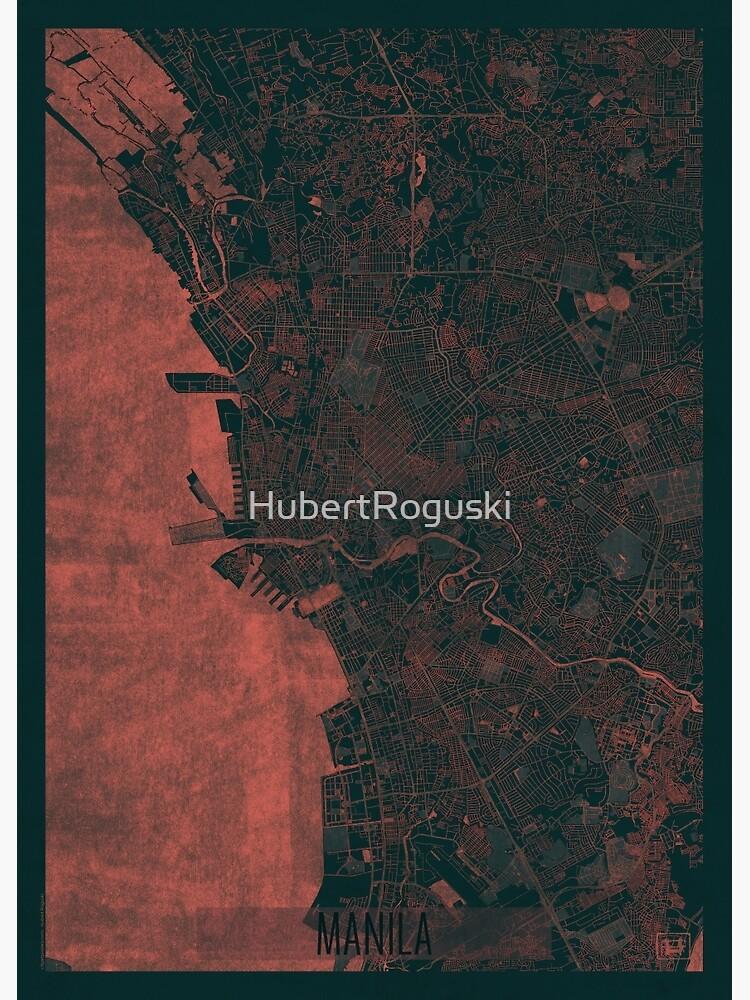 Manila Map Red by HubertRoguski