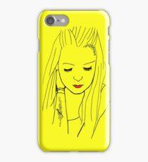 Bria in Yellow iPhone Case/Skin