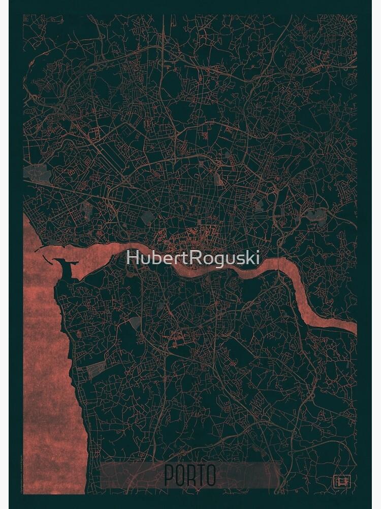 Porto Map Red by HubertRoguski