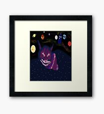 even cats dream of space Framed Print