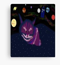 even cats dream of space Canvas Print