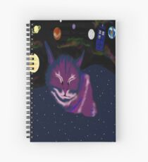 even cats dream of space Spiral Notebook