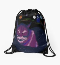 even cats dream of space Drawstring Bag