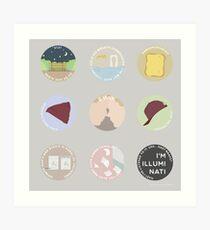 EVAK: A MINIMALIST LOVE STORY Art Print