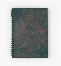 Madrid Map Red Spiral Notebook