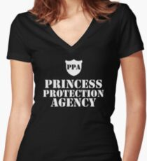 PPA - Princess Protection Agency Women's Fitted V-Neck T-Shirt