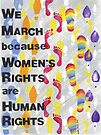 Women's Rights are Human Rights (without Women's March text) by Ellen Sauer