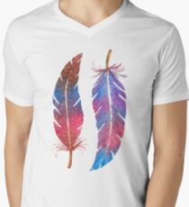 Feathers Two Ways Men's V-Neck T-Shirt