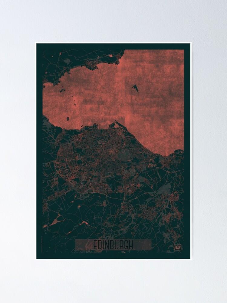 Alternate view of Enidburgh Map Red Poster