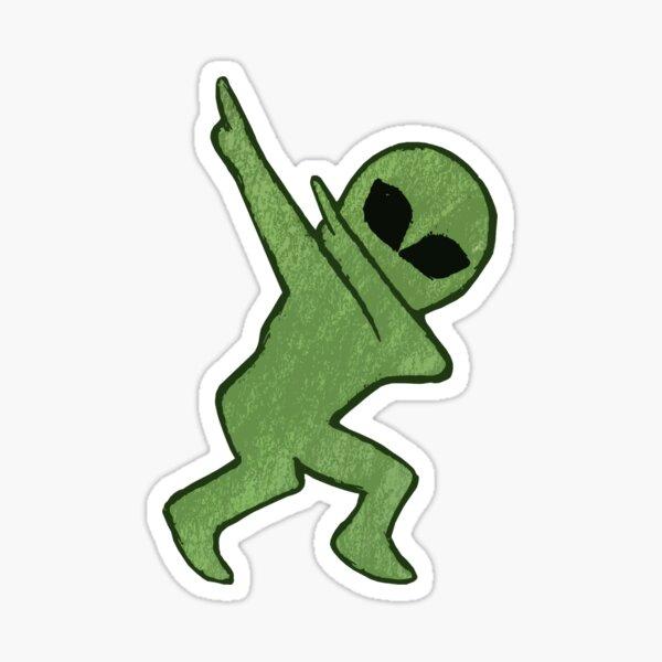 Alien Dab Sticker