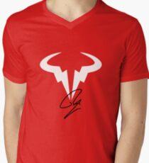 Rafael Nadal RN Tennis Player Logo Men's V-Neck T-Shirt