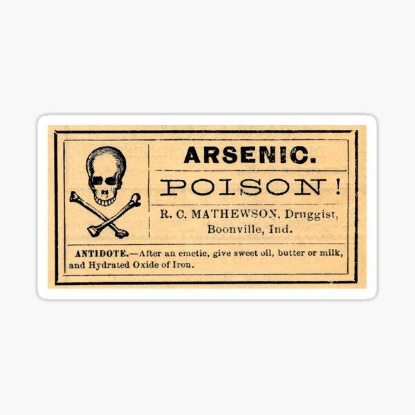 Arsenic Poison Skull Label Sticker