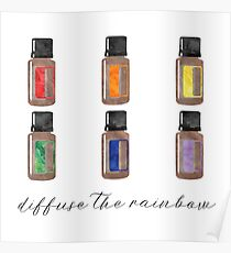 Diffuse the Rainbow - Essential Oils Poster