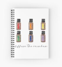 Diffuse the Rainbow - Essential Oils Spiral Notebook