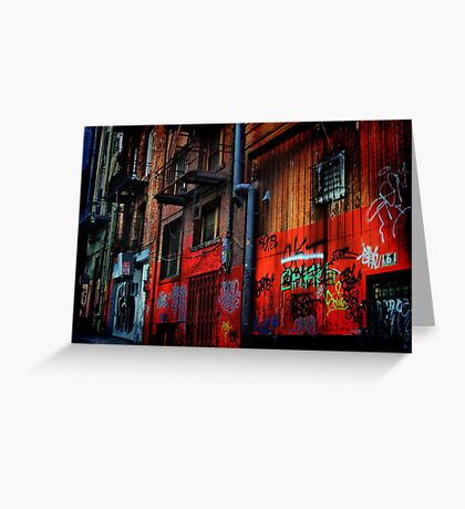 Chinatown Alley Greeting Card
