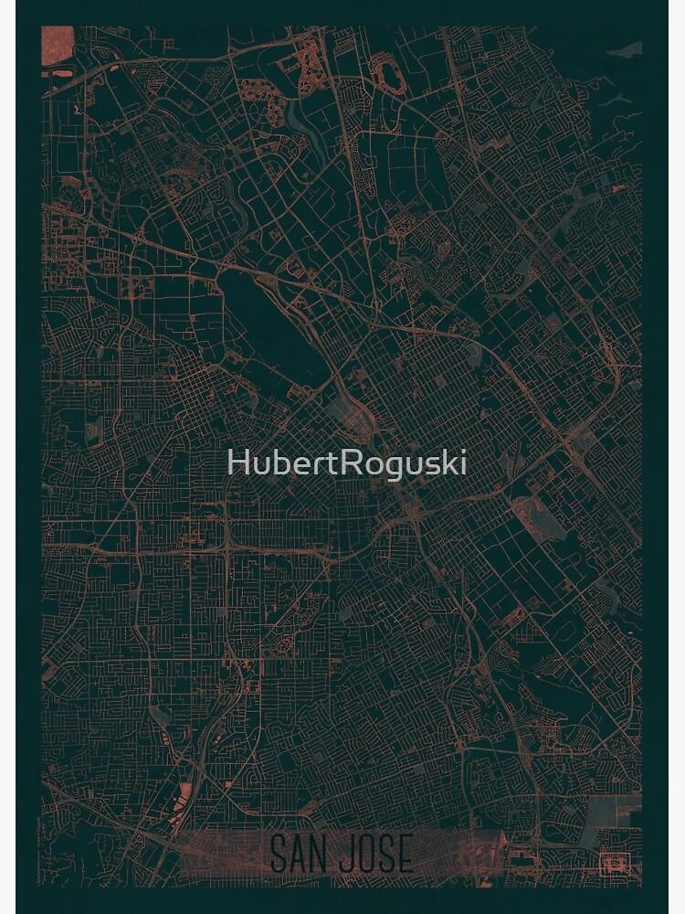 San Jose Map Red by HubertRoguski