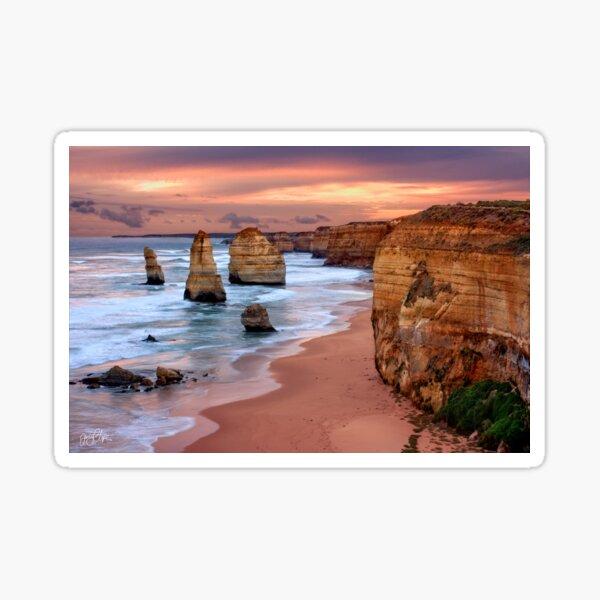 The Twelve Apostles. Great Ocean Road, VIC, Australia. Sticker