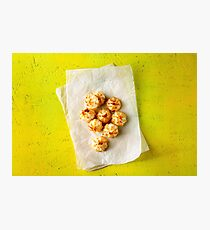 Fresh baked little coconut cookies Photographic Print