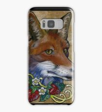 Neotraditional Fox with Strawberries Samsung Galaxy Case/Skin