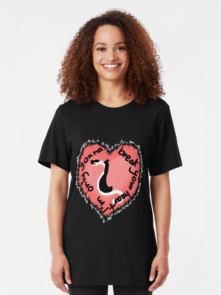Alternate view of Heartworm Heart throb Slim Fit T-Shirt