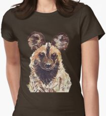 African Wild Dog Fitted T-Shirt