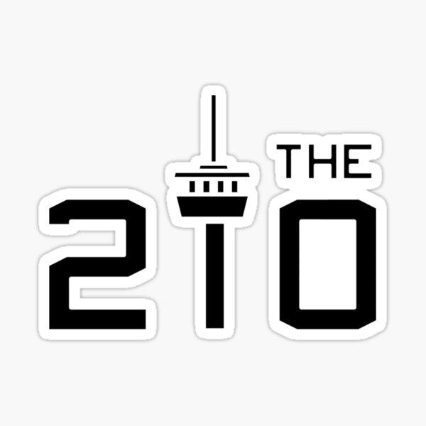 THE 210 -- BLACK Sticker