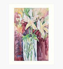 Wet Wild Watercolor Florals Art Print
