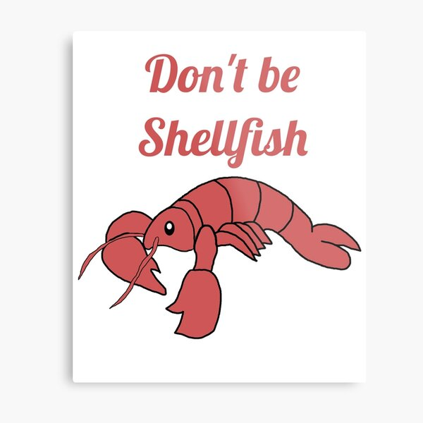 Shellfish Lobster Metal Print