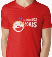 Silvia - Olá Amiguinhos Legais Men's V-Neck T-Shirt