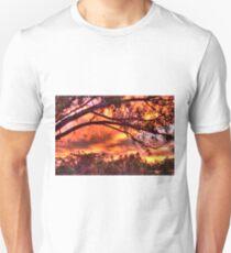sunset through the trees #2 Unisex T-Shirt
