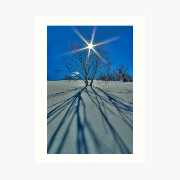 Mount Cobbler Plateau in winter Art Print