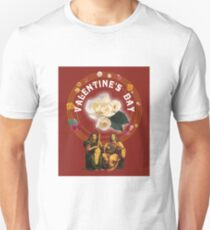 Beautiful Vintage Musical and Floral Design for Valentine's Day Unisex T-Shirt