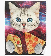 Galaxy Cat Poster