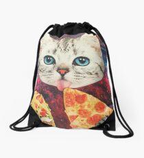 Galaxy Cat Drawstring Bag