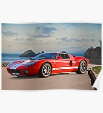 Ford GT 'Seaside' Poster