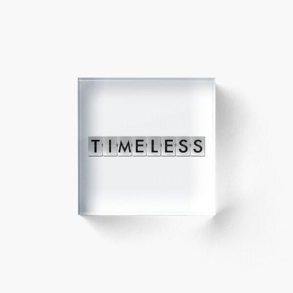 The Timeless Acrylic Block